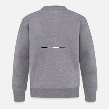 Right Asexual flag subtle | LGBTQI + | QUEER | ALLY - Baseball Jacket