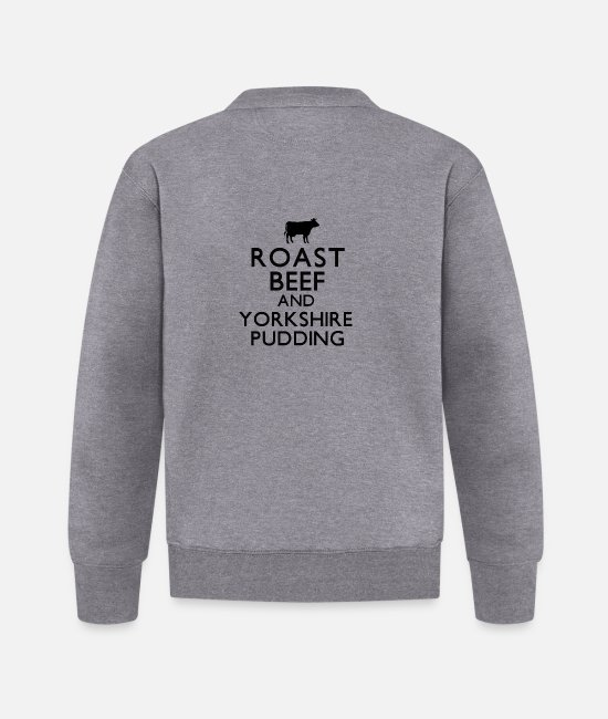 Roast Jackets - Roast Beef and Yorkshire Pudding - Baseball Jacket graphite heather
