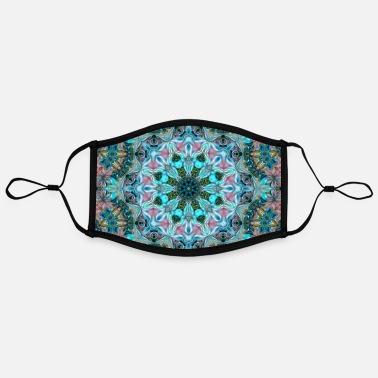 Modern KALEIDOSCOPE ABSTRACT LILIES 2 FLOWERS 2 - Kontrastmaske, einstellbar (Large)