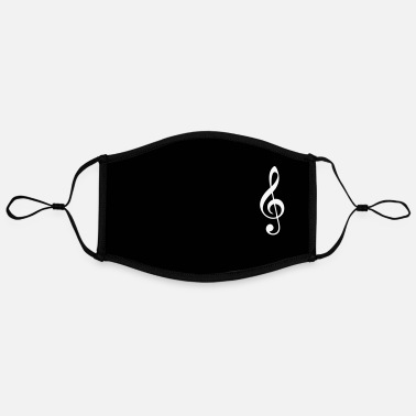 Music clef notes, customizable - Contrast mask, adjustable (large)