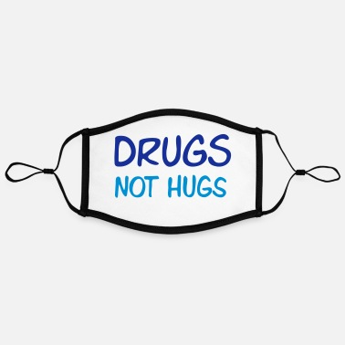 Alcohol drugs not hugs - Contrast mask, adjustable (large)