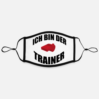 Trainer Ich bin der Trainer - Kontrastmaske, einstellbar (Large)