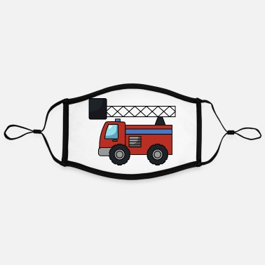 Fire Fire truck fire fire - Contrast mask, adjustable (large)