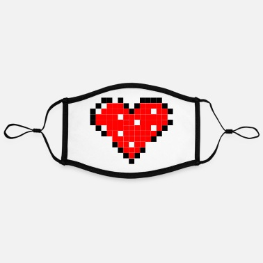 Pixel Heart broken pixel heart - Contrast mask, adjustable (large)