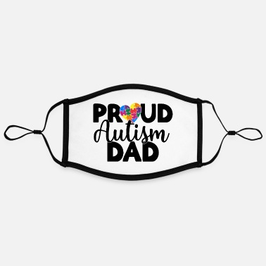 Dad Proud Autism Dad - Contrast mask, adjustable (large)
