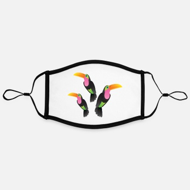 Illustration Toucan Illustration - Mascarilla contraste, ajustable (grande)