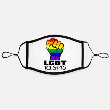 Lgbt Rights Stand for lgbt rights fist. - Contrast mask, adjustable (large)