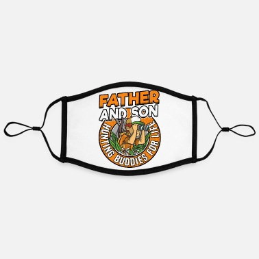 Dad Father & Son Hunting Buddies For Life Funny - Contrast mask, adjustable (large)