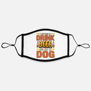 Dachshund Dog beer lover funny saying gift - Contrast mask, adjustable (large)