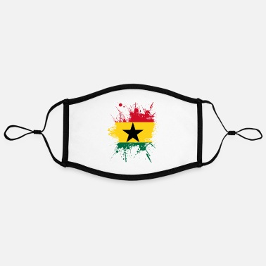 Accra Ghana Africa Accra flag banner travel gift - Contrast mask, adjustable (large)