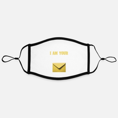 Composite Delivery Need mail? I am your MAN. Postman Yellow design - Contrast mask, adjustable (large)