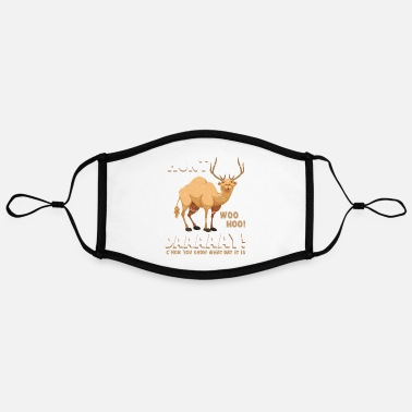 Military Hunting Humpday camel hunting deer hunting day - Contrast mask, adjustable (large)