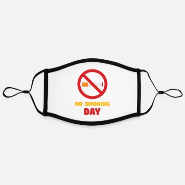 No Smoking Day No Smoking Day World No Smoking Day Smoke Free - Contrast mask, adjustable (large)