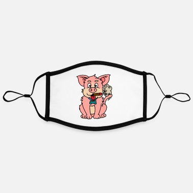 Nicotine Addiction Pigs dog smoker zanak nicotine addiction - Contrast mask, adjustable (large)