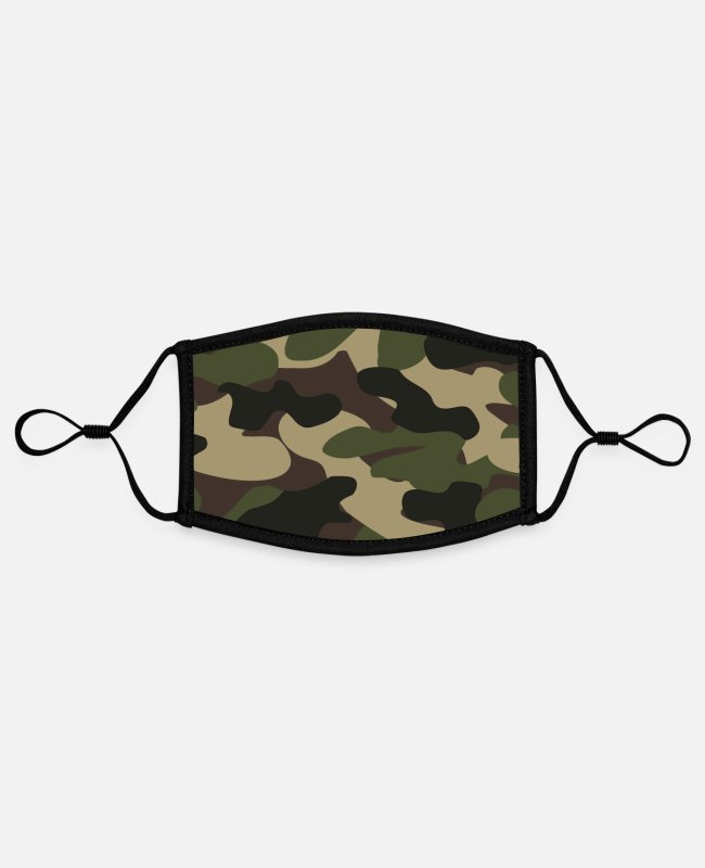 Haha Face Masks - Camoflage mouthpiece 001 - Contrast mask, adjustable (small) white/black
