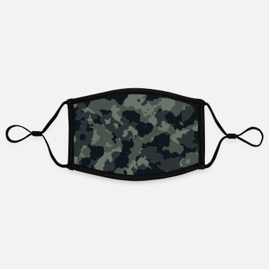 Military Hunting Camouflage gray, camouflage, military - Contrast mask, adjustable (small)