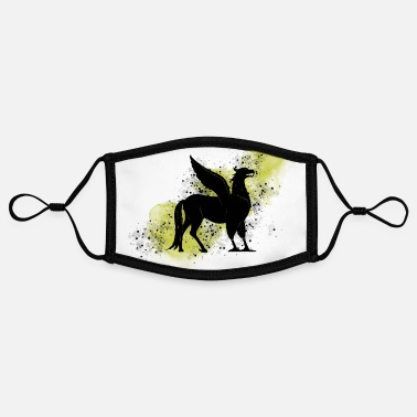 Hogwart Hippogriff on yellow background - Magic world - Contrast mask, adjustable (small)
