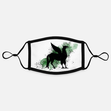 Hogwart Hippogriff on green background - Magic world - Contrast mask, adjustable (small)