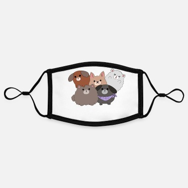 Kawaii Kawaii dogs - Contrast mask, adjustable (small)