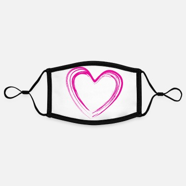 Pink Heart Heart pink - Pink Heart - Contrast mask, adjustable (small)