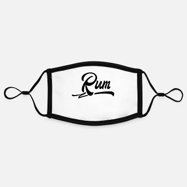 Rum Drink Alcohol Bar Rum Drink Rum Rum Lovers Drink - Contrast mask, adjustable (small)