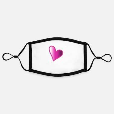 Pink Heart Pink heart - Contrast mask, adjustable (small)