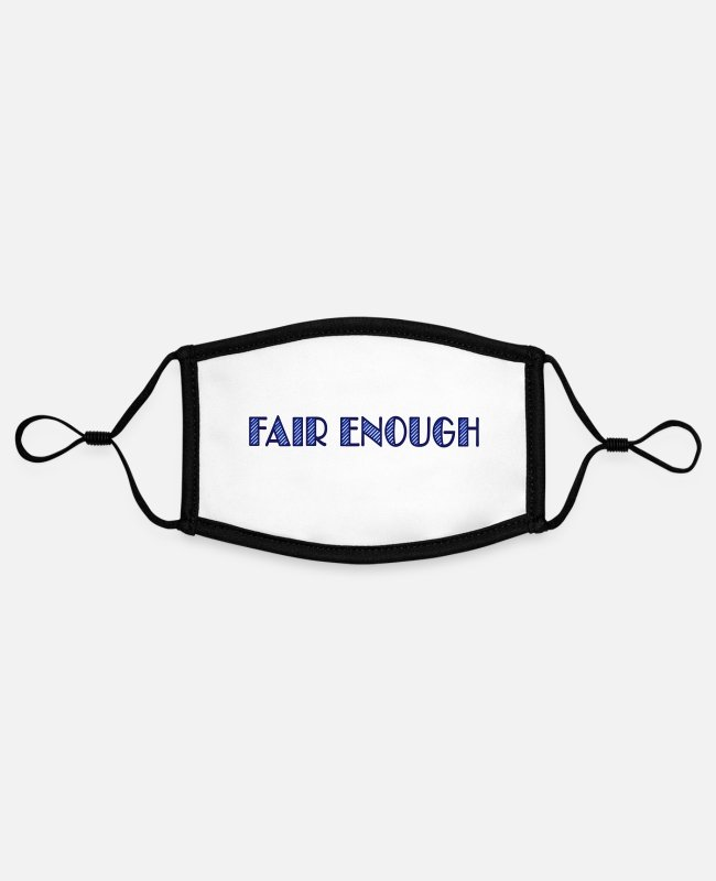 Homepage Face Masks - fair enough - Contrast mask, adjustable (small) white/black
