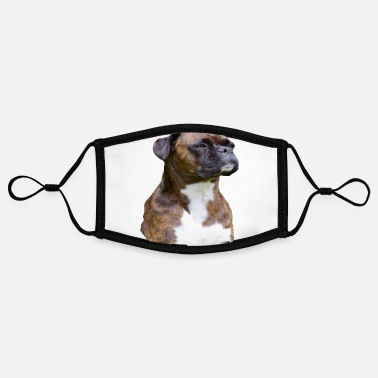 Dog German boxer dog dog head purebred dog dogs - Contrast mask, adjustable (small)