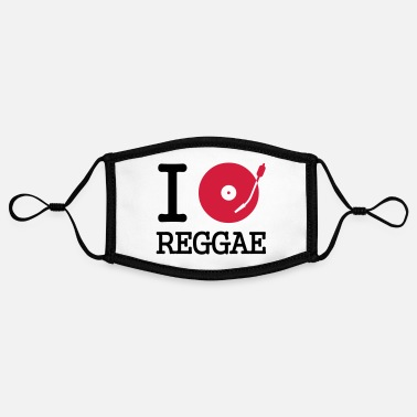 Dancehall I dj / play / listen to reggae - Contrast mask, adjustable (small)