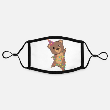 Pennant Birthday bear bear bears garland birthday - Contrast mask, adjustable (small)