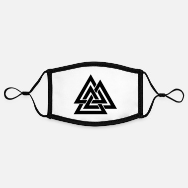 Wotan Valknut Wotan's knot - Contrast mask, adjustable (small)