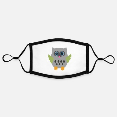 Grey Grey Owl - Contrast mask, adjustable (small)