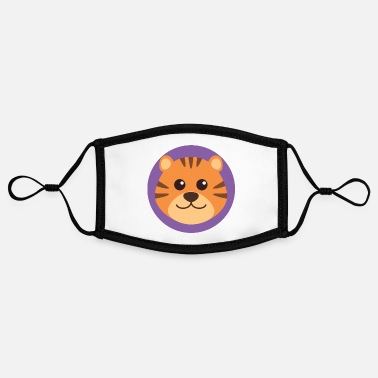 Little Brother Tiger Face - Contrast mask, adjustable (small)