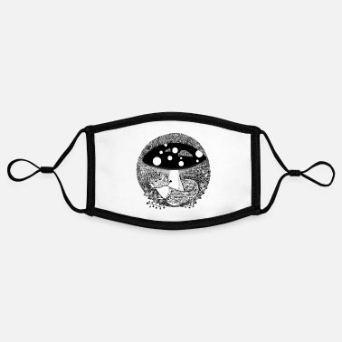 Fox illustration black and white - Contrast mask, adjustable (small)