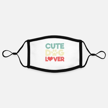 Cute Cute dog lover dogs cute cute - Contrast mask, adjustable (small)