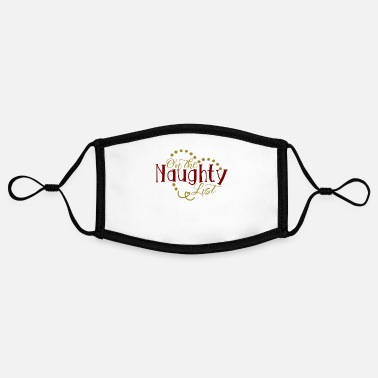 Naughty On the naughty list - Contrast mask, adjustable (small)