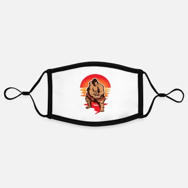 Heavyweight Sumo Wrestler - Wrestling Japan Heavyweight Wrestling - Contrast mask, adjustable (small)