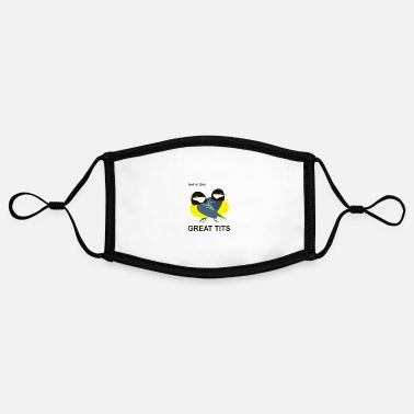 Tit GreatTitsBirds Tit Blue Tit Tit - Contrast mask, adjustable (small)