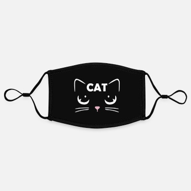 Cat Face Mask Cats face mask - Contrast mask, adjustable (small)