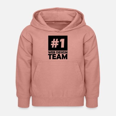 number one web design team - Kids Hoodie