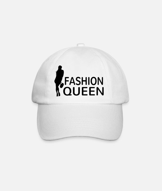 Dress Caps & Hats - Fashion Queen fashion modern stylish woman shopping - Baseball Cap white/white