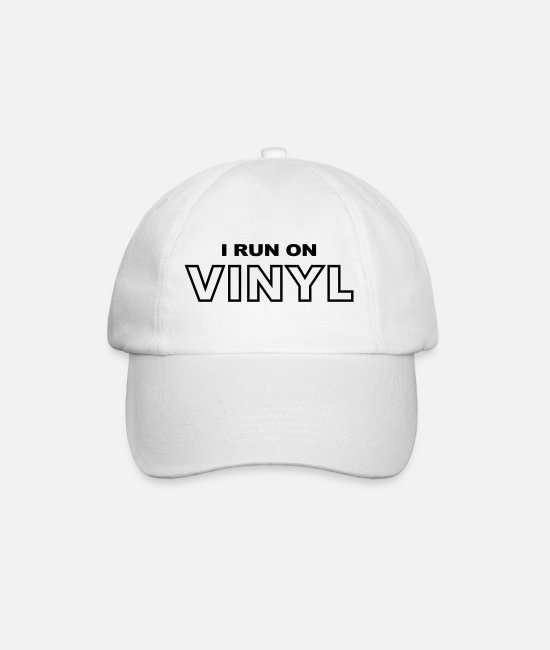 Turn Table Caps & Hats - VINYL - Baseball Cap white/white