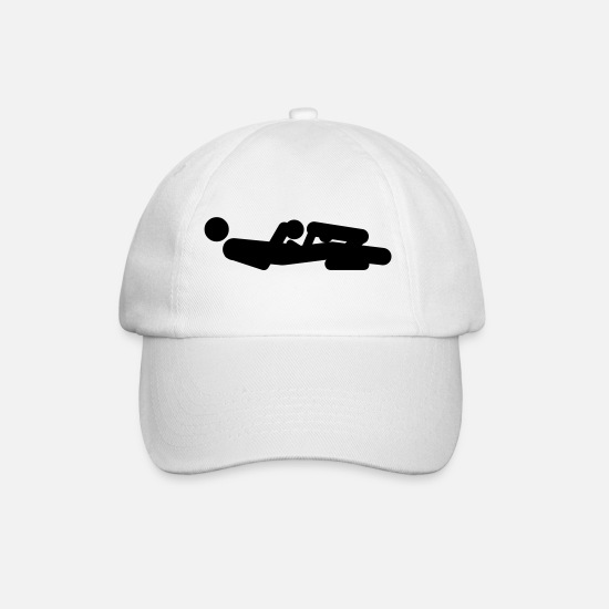 Sexist Caps & Hats - Sex positions - Baseball Cap white/white
