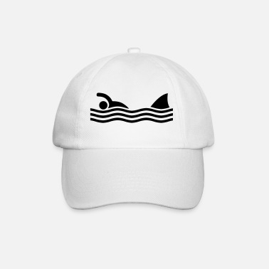 Peligroso swimmer with shark - Gorra béisbol