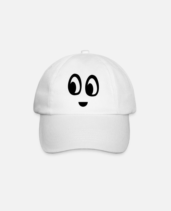 Mood Caps & Hats - Funny face - Baseball Cap white/white
