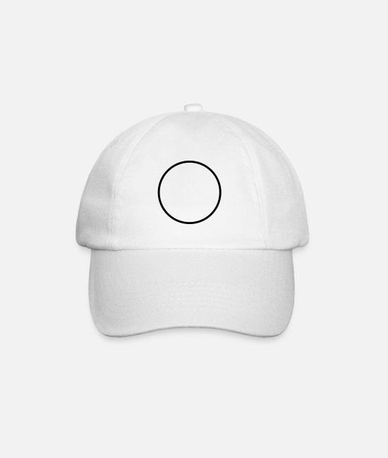 Circle Caps & Hats - ring - Baseball Cap white/white