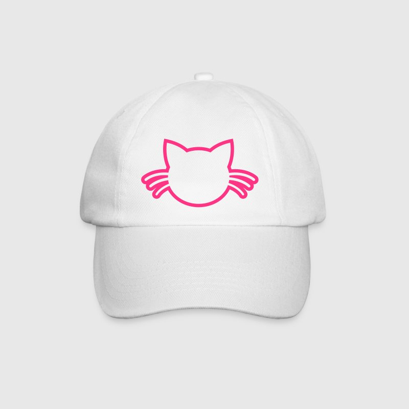 CUTE cat with whiskers outline - Baseball Cap