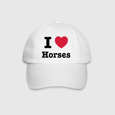 This design lets you change all colours - I love Horses - Czapka z daszkiem