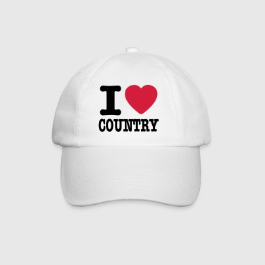 i love country / i heart country - Gorra béisbol