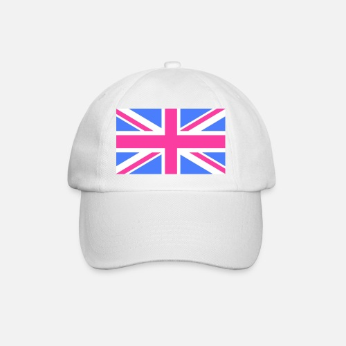 287d431df95 Union Jack Flag in Pink and Blue Baseball Cap